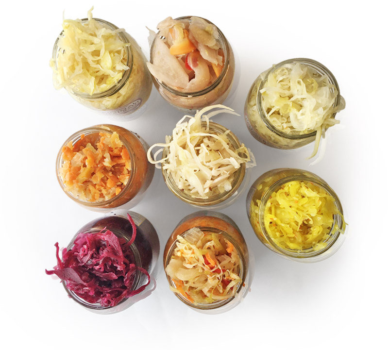 jars of kraut
